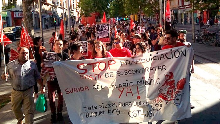 La vaga de Telepizza per la no pujada del SMI, exemple de lluita contra la precarietat