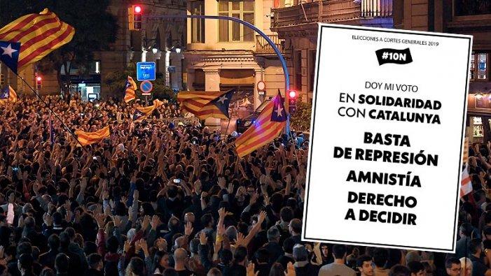 Eleccions #10N | Un vot solidari amb el poble català a tot l'Estat espanyol