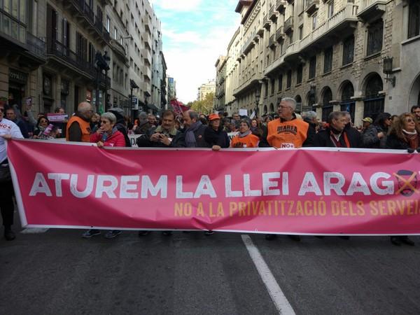 Ni Llei Aragonès ni més privatitzacions. Internalització sota control de treballadores i usuàries