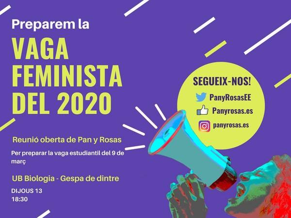 Comencem a organitzar la vaga estudiantil feminista del 8 i 9 de març!